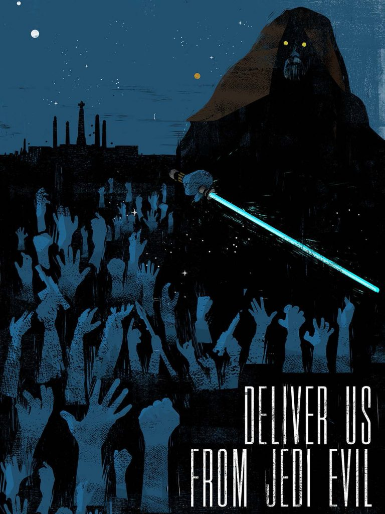 """Deliver us from Jedi Evil"" door: Moshenu Phobi"