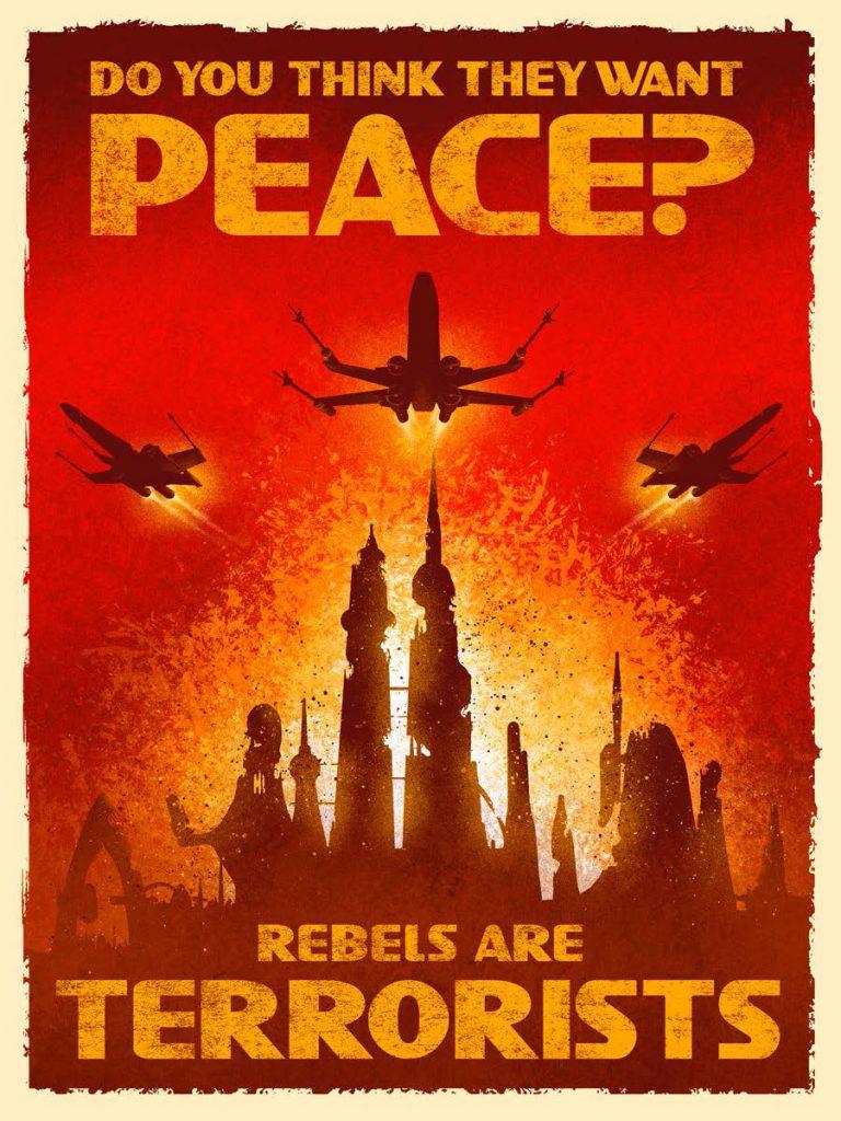 """""""Rebels Are Terrorists"""" door: Onbekend"""