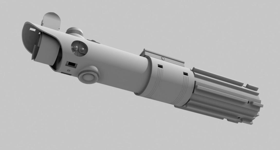 Het 3D model geassembleerd.