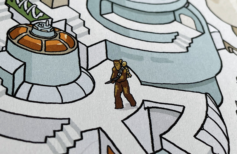 Chewie en C-3PO in Cloud City.