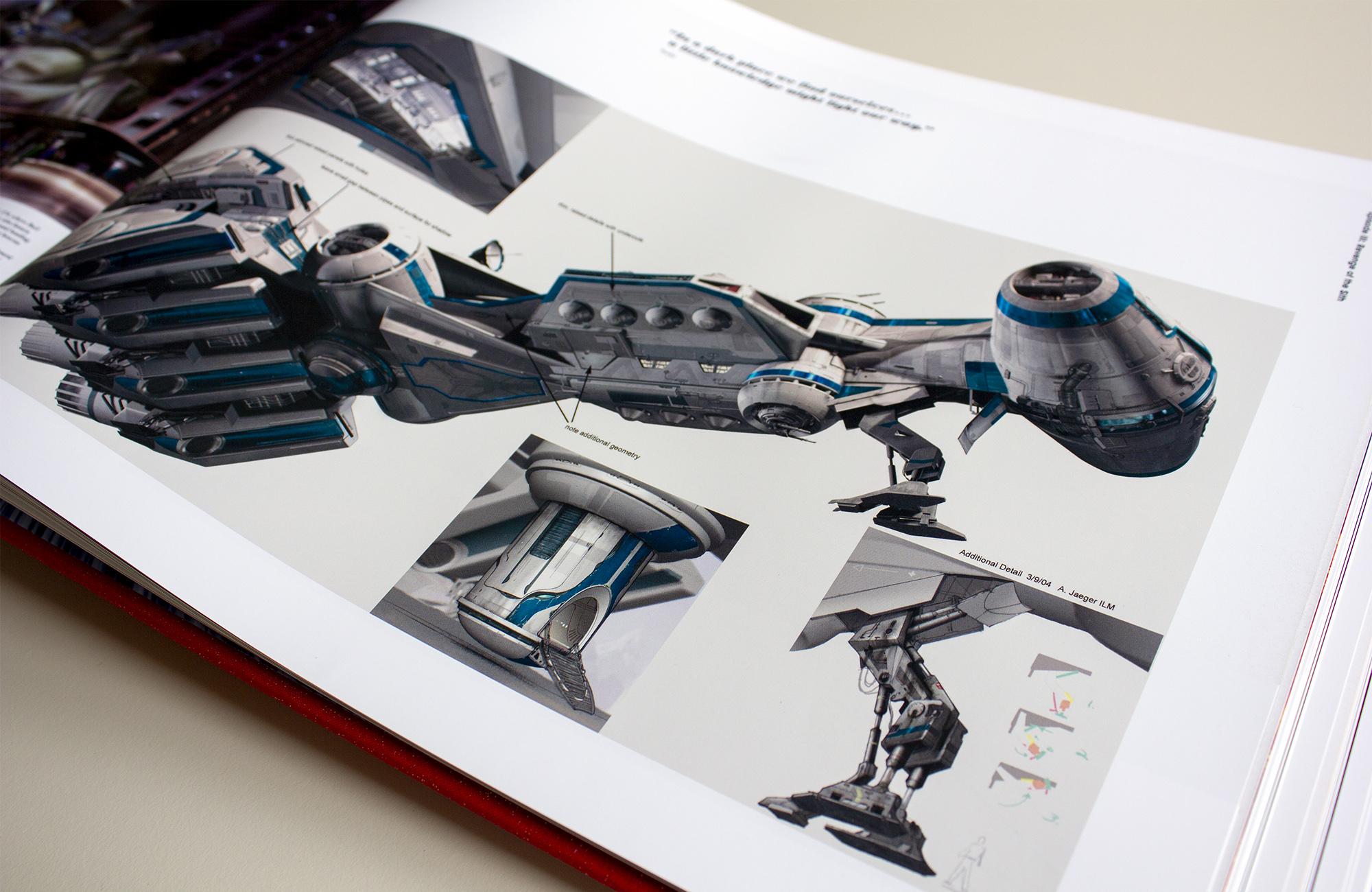 Conocept details voor de cruiser van Bail Organa in Episode III.